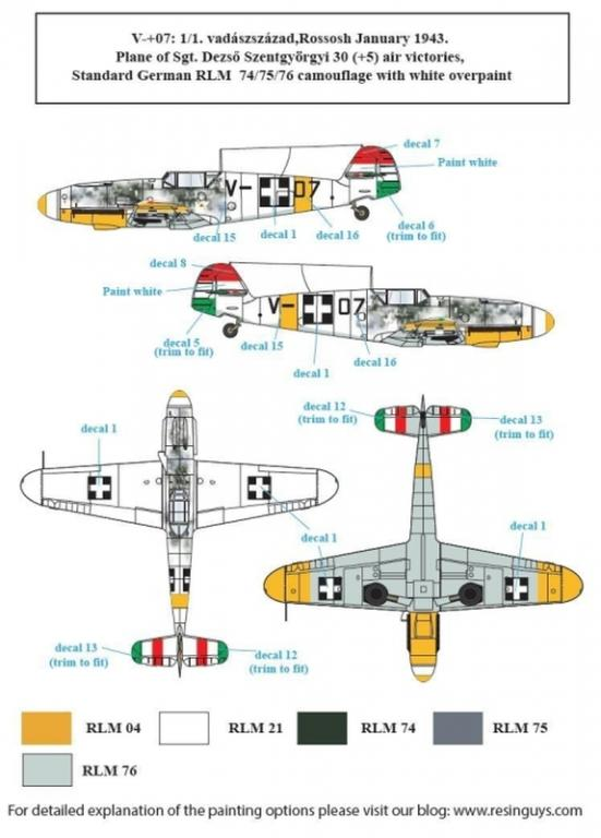 Messerschmitt Bf-109F in Hungarian Service VOL D48025 II. 1:48 S.B.S Models