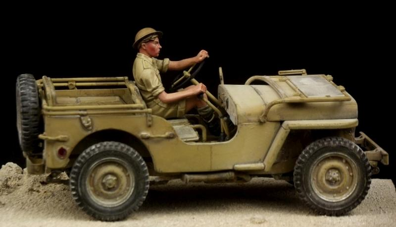 British Driver Western Desert WW II (for Tamiya Jeep)
