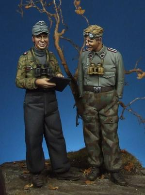 German panzer officer & NCO