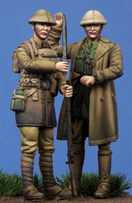 British Officer & Soldier WW I