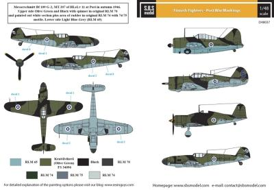 Finnish Fighters - Post War Markings