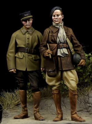 French Tank Crewman & French NCO WW II