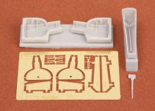 P-39 Q/N Airacobra wheel bays for Academy kit