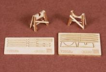 Piaggio PC-7 wooden trestle for SBS Model kit