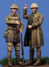 British Officer & Soldier WW I - 1.