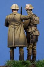 British Officer & Soldier WW I - 3.