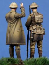 British Officer & Soldier WW I - 4.