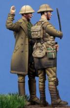 British Officer & Soldier WW I - 5.