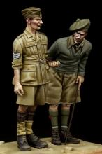 British NCO & Scottish Highlander Western Desert WW II - 1.