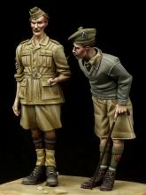 British NCO & Scottish Highlander Western Desert WW II - 3.