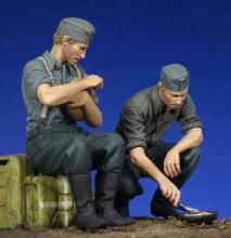 German Soldiers at rest WW II - 6.
